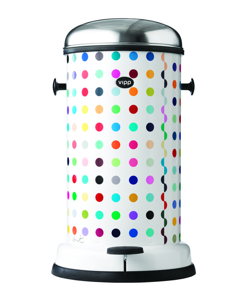 Dotted vipp bin damien hirst-a